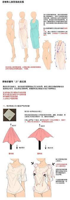 #衣服褶皱绘制的方法#在整理教案,就偷偷...