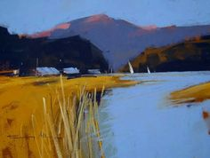 Loch near Glencoe - New works by Matthew Alexander and Tony Allain, PS - Island Fine Arts Pastel Landscape, Sunset Landscape, Contemporary Landscape, Abstract Landscape, Landscape Paintings, Guache, Pastel Art, Pastel Paintings, Painting Inspiration