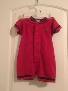 e2e253ee5b69 Nike Baby Infant Boy s 1 Pc BodySuit Romper Sz 24MOS Red Clothes  Nike