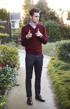 burgundy polo outfit men - Buscar con Google
