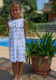 Girl dress Vestido niña con motivos marineros Vestito bambina de missmariposas en Etsy