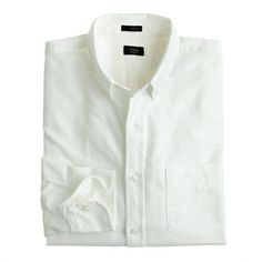 Few shirts age better than an oxford. The frays, the fades—these are the kinds of details we love. We selected this classic white fabric because it can—and will—hang with your old favorites. <ul><li>Slim fit, cut more narrowly through the body and sleeves.</li><li>Cotton oxford.</li><li>Button-down collar.</li><li>Machine wash.</li><li>Import.</li></ul>