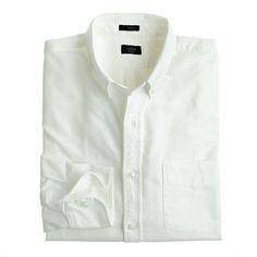 J.Crew+-+Slim+vintage+oxford+shirt+in+white