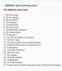 MARSOC Short card - yep at my age...this would kill me, no doubt. Hats off the the Devil Gods that do this as part of their standard routine.