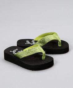 5d1ec65dfa7207 Lime Sparkle Flip-Flop... cute AND it raises money for kids with