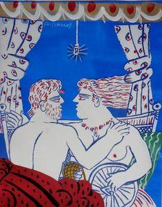 Come explore Alekos Fassianos's best artworks on Artsper. Ancient Persian, Greek Art, Figure Painting, Cool Artwork, Contemporary Artists, Online Art, Original Art, Nerd, Kids Rugs