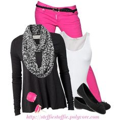 """""""Pink & Gray Leopard"""" by steffiestaffie on Polyvore"""