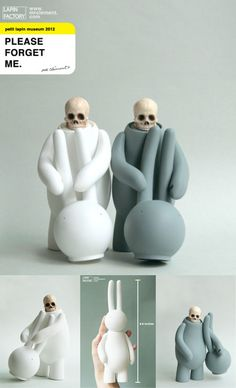 "Mr. Clement's ""Please Forget Me"" figures... up for pre-order in ""White"" & ""Gray""!!!"
