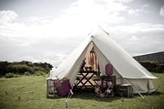 a Glampit bell tent, in preparation for a proposal. Glamping in Yorkshire. Picture taken by http://www.lights4fun.co.uk/
