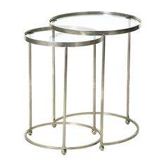 Go Home Kensington Circle Nesting Tables, Set of 2