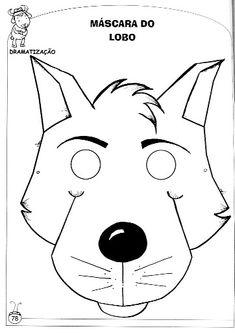 Máscaras para peça teatral Animal Masks, Animal Heads, Pig Crafts, Crafts For Kids, Puppets For Kids, Printable Masks, Homemade Playdough, Finger Puppets, Red Riding Hood
