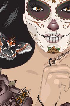 Dia de los Muertos by Madeleine Alm, via Behance