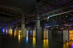 A renovated paper mill becomes a Google server floor in Hamina. Finland. Connie Zhou.