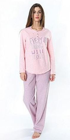 Pijama Egatex mujer modelo Okay - Homewear - Pijama mujer invierno . http://www.perfumeriaelajuar.com/homewear/pijama-mujer-invierno-/30/