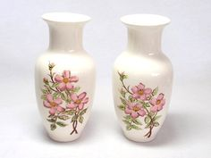 Oriental Vases Pink Cherry Blossoms Handpainted by twocheekychicks, $8.00