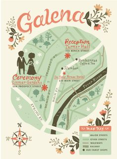 #Wedding #invitation map #idea. Super cute way to show the guests where your wedding will be. Plan your wedding for free at www.Jellifi.com
