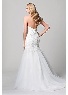 Taffeta Sweetheart Sleeve Sleeveless Dropped Full Length Mermaid Trumpet Sweep Wedding Dresses