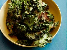 BBQ Kale Chips : These kale chips offer all the crunch and flavor of regular potato chips — and then some. Paprika, ancho chile powder, garlic powder and dry mustard come together to form a robust seasoning that beats the salty store-bought stuff.