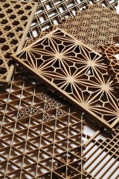 Kumiko (art technique of assembling small wooden pieces without nails) by Shinichi Sugawara from Iwate, Japan. (wasaku.org)