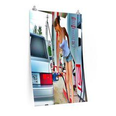 PUMP GIRL Vertical Fine Art Prints (Posters)