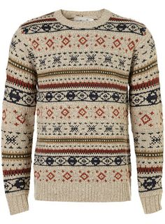 Crew New Jumper by Topman. A nice school-boy sweater for the colder months.