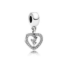 Disney Peter Pan's loveable fairy, Tinkerbell, decorates this sterling silver heart-shaped dangle charm that's been carefully set with cubic zirconia for a twinkling finish. Shop your Pandora Charms here. Pandora Charms Disney, Pandora Beads, Pandora Bracelets, Pandora Jewelry, Charm Jewelry, Jewelry Box, Tiffany, Heart Bracelet, Luxury Jewelry