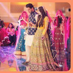 Bridal Mehndi Dresses, Mehendi Outfits, Walima Dress, Pakistani Wedding Outfits, Indian Bridal Lehenga, Bridal Wedding Dresses, Pakistani Dresses, Pakistan Wedding, Bridal Lehenga Collection
