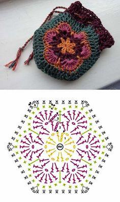 Crochê criativo - 30 Ideias de porta-moedas de crochê ⋆ De Frente Para O Mar - Stricken anleitungen,Stricken einfach,Stricken ideen,Stricken tiere,Stricken strickjacke Crochet Drawstring Bag, Crochet Coin Purse, Crochet Pouch, Crochet Purses, Crochet Bags, Crochet Diy, Crochet Hooks, Tutorial Crochet, Diy Tutorial