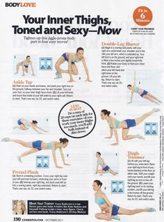 Your Inner Thighs, Toned and Sexy - Now -- The Project: Compilation of Tracy Anderson Method in Cosmopolitan #tone #legs