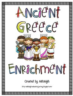 FREE Enrichment for Ancient Greece! Includes a choice board and all necessary printables.