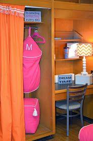 Even the closet is FAB! Dorm Room Closet, Dorm Rooms, Dorm Decorations, Chic Dorm, Something To Do, Dorm Ideas, Storage, Closets, Tired