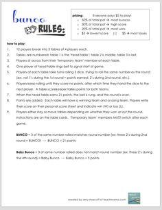 how to play bunco   teachmama.com