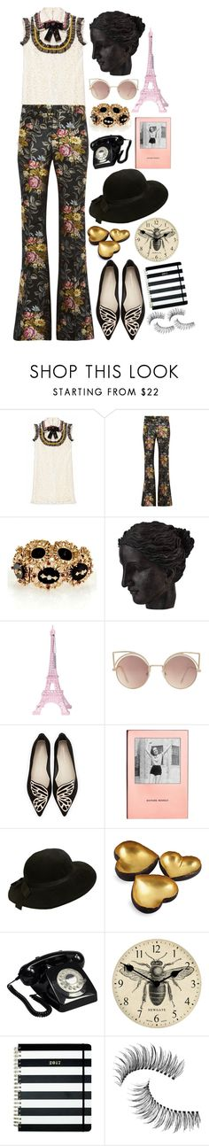 """Untitled #797"" by lbenigni ❤ liked on Polyvore featuring Gucci, Ren-Wil, Merci Gustave!, MANGO, Sophia Webster, Kate Spade, Chanel, Michael Aram, GPO and Newgate"