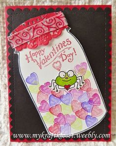 Handmade Valentine cards for my kids + tips + new challenges. Using die cuts, Unity stamps, Stampin Up and more details on my blog: http://mykraftkloset.weebly.com/blog/valentine-cardsnew-craft-challenges