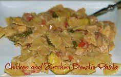 chicken and zucchini bow tie pasta (easy recipes)