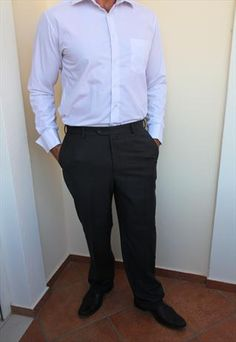 PAL ZILERI Charcoal  Trousers