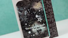 Easy Galaxy with Distress Paints - Make a Card Monday #256