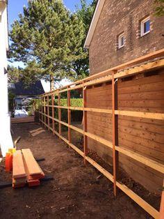 Diy Fence, Backyard Fences, Fence Design, Home Improvement, Pergola, Shed, Deck, Construction, Building