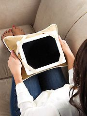 eReader Tablet Pillow for a tablet, book, or great for holding your patterns!