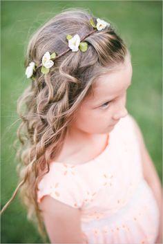 flower girl floral crown #flowergirl #weddinginspiration #weddingchicks http://www.weddingchicks.com/2014/01/24/pinterest-inspired-vintage-wedding/