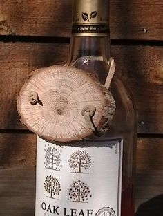 Rustic wood wine bottle gift tags