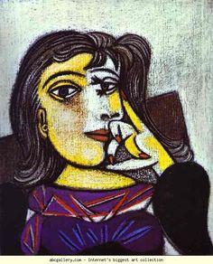 Pablo Picasso. Dora Maar. Olga's Gallery.    Picasso, Dora Maar, 1937