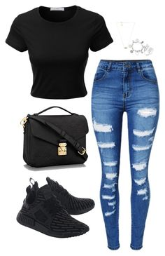 Causal style by bellaxoxx on Polyvore featuring polyvore, fashion, style, LE3NO, WithChic, adidas Originals, ChloBo, Anne Sisteron, Kendra Scott and clothing