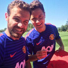 Amigos Mata and Herrera #MUtour #mufc 18.7.2015