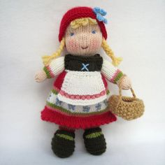 Fern and Flora doll knitting pattern - Waldorf inspired knitted doll - pdf…