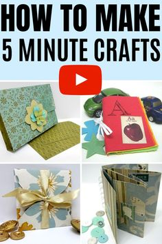 How to make amazing and easy 5 minute crafts from paper and house hold items #einatkessler #crafts #5minute #DIY #paper Craft Projects For Adults, Arts And Crafts For Adults, Creative Arts And Crafts, Easy Craft Projects, Arts And Crafts Projects, Easy Diy Crafts, Craft Tutorials, Video Tutorials, Project Ideas