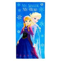Disney Frozen My Sister My Hero Cotton Bath Towel - JF62611HYML