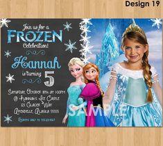 19 Best Frozen Birthday Invitations Images