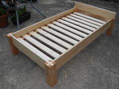 bed | poplar frame, douglas fir posts, & slats from Ikea. si… | Flickr