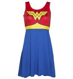 Ladies Wonder Woman Costume Dress : TruffleShuffle.com